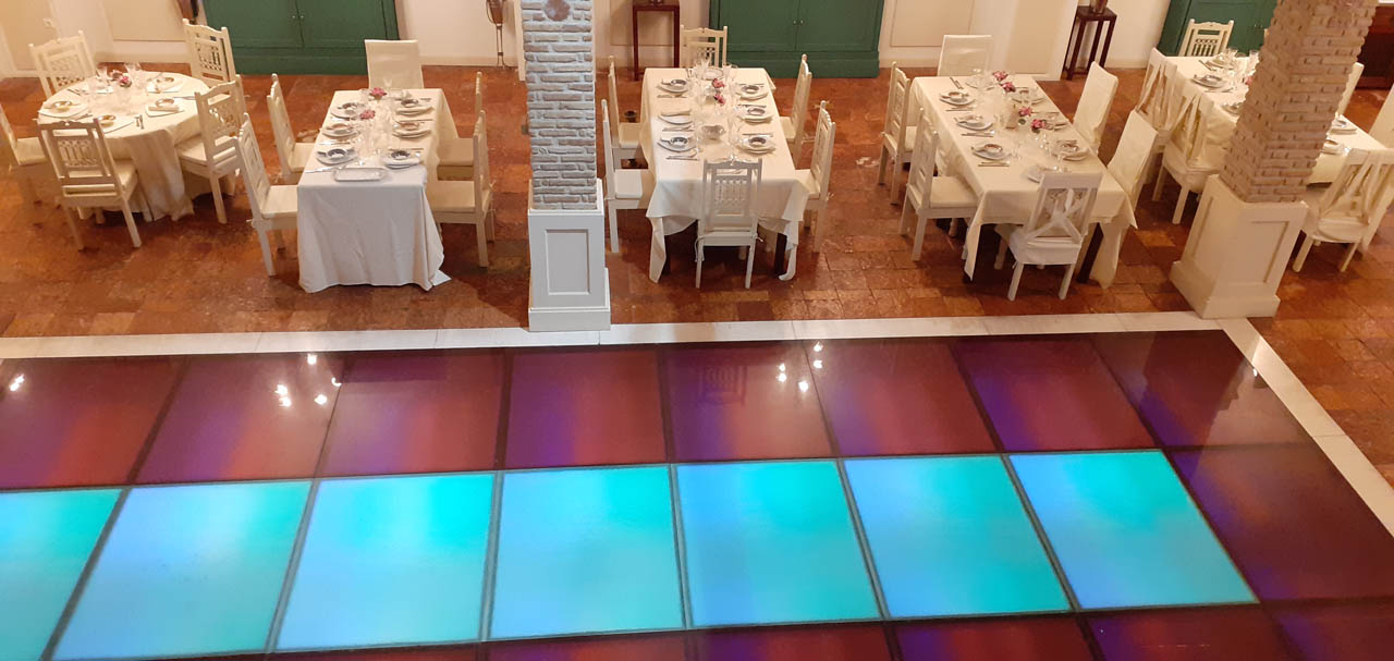 Lighted floor reception hall wedding baptism athens glyfada area barin events