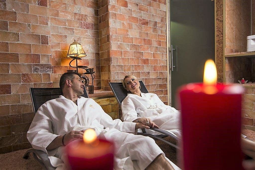 Salt cave treatment at rubezahl marienbad hotel