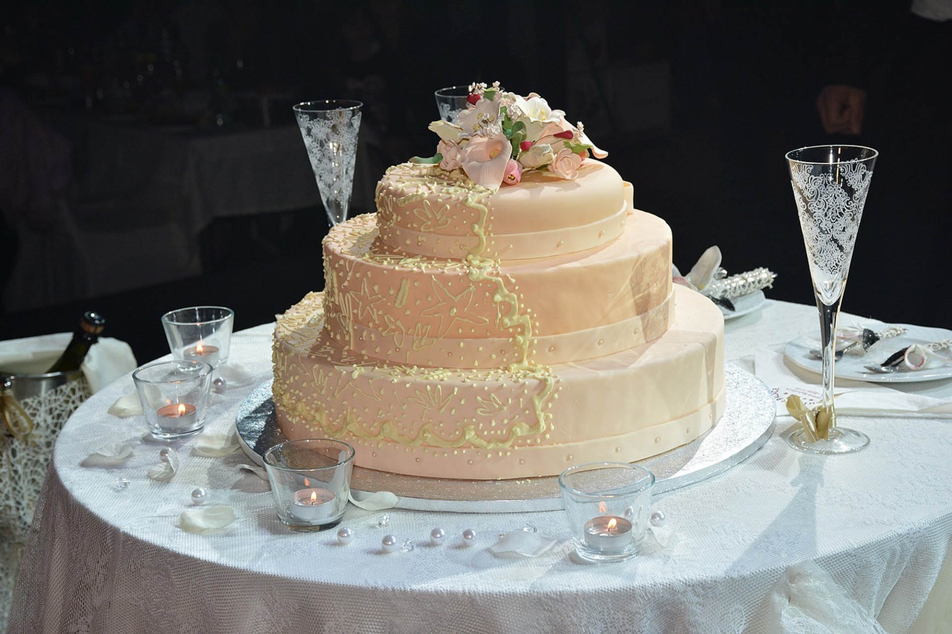 Wedding cake on table slide - 24