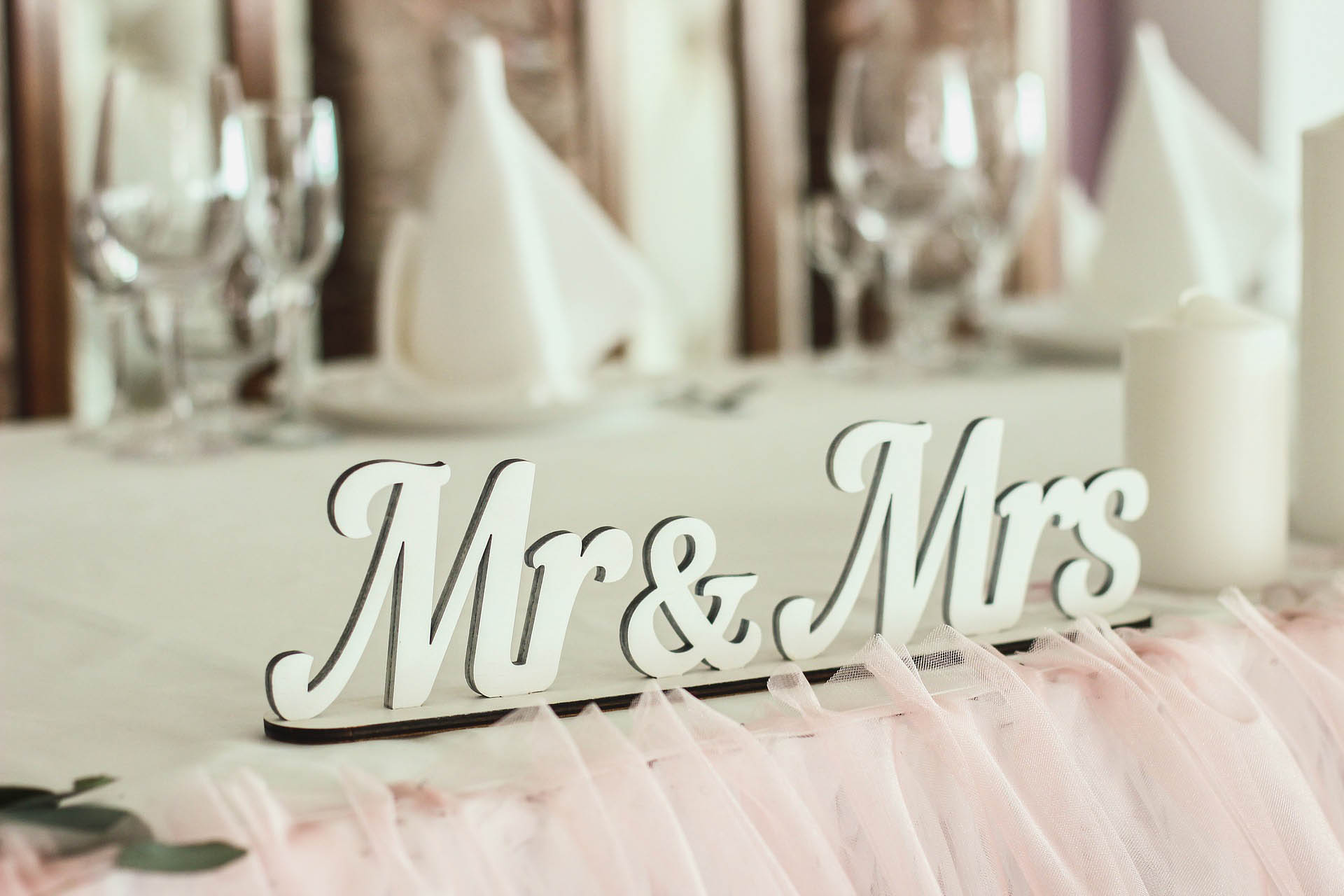 Mr and mrs decoration
