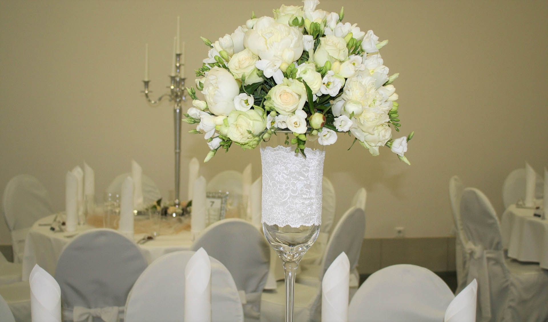Flowers on table decoration